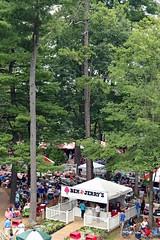 Ben & Jerry's Ice Cream, Saratoga (Kurtsview) Tags: newyork upstatenewyork saratoga saratogasprings saratogaracecourse park thoroughbredhorseracing summer vendor tents