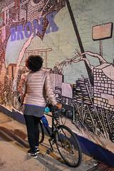 Bronx, New York (Quench Your Eyes) Tags: bronxmuseum letsglownbx letsglownyc ny artworks bicycle bikelights bronx fallride fordhamplaza glowatnight graffiti lumoshelmet newyork newyorkcity newyorkstate nightride nyc nycdot reflective streetart thebronx urbanart visibility wallart
