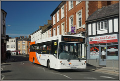 Travel de Courcey 550 (Jason 87030) Tags: traveldecourcey man mcv evolution rugby midlands churchst street septmeber 2018 550 white blue orange livery new fleet coventry point tattoo slag tag town buildings shops transport sony ilce alpha a6000 lens nex