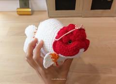 Crochet lionhead ranch goldfish (Mingle Doll 鳴娃娃) Tags: crochetamigurumi crochet crochetgoldfish amigurumi lionheadranchu ranchu goldfishart fancygoldfish 金魚 かぎ針編み金魚