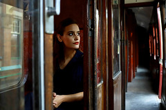 'Emily M' (AndrewPaul_@Oxford) Tags: emilym emily 1940s vintage period great central railway loughborough station carriage environmental portrait natural light
