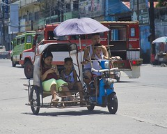 Family Trip (Beegee49) Tags: street family children tricycle electric environment friendly bacolod city philippines