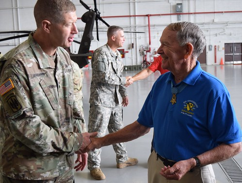 Col. Walter Marm-Medal of Honor visits 78th ATC
