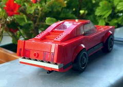 Mustang Boss 429 - Rear Variant (captain_joe) Tags: toy spielzeug lego minifigure minifig moc car auto 6wide mustang fordmustang fastback brickverse boss 429 rear heck balcony