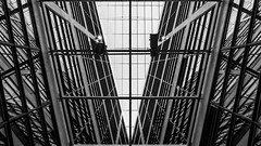 willy-brandt-haus (bilderkombinat berlin) Tags: ⨀2018 berlin kreuzberg bw building architecture eu spd blackwhite ceiling reflection lines europa germany party