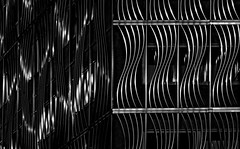 silver and dark (christikren) Tags: facade silver metal dark christikren city architecture building fassade lines curves linescurves monochrome panasonic vienna wien windows pattern texture abstract structures again