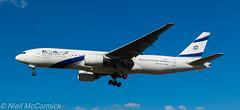 4X-ECF El Al Israel Airlines Boeing 777-258(ER) (Niall McCormick) Tags: lhr heathrow airport london egll aviation 27l myrtleavenue 4xecf el al israel airlines boeing 777258er