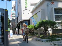 Space Invader DJN_22 (tofz4u) Tags: daejeon coréedusud southkorea streetart artderue invader spaceinvader spaceinvaders mosaïque mosaic tile djn22 orange vélo velo bike bicycle bicyclette street rue people
