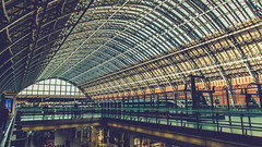 St Pancras Int. (Ian Emerson (Thanks for all the comments and faves) Tags: architecture london stpancras station arches trainshed barlow hotel platform international eurostar roof glass windows listed grade1 steel canon