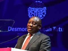 President Cyril Ramaphosa delivers 8th Desmond Tutu International Peace Lecture (GovernmentZA) Tags: cyril ramaphosa thabo makgoba razaan bailey 8th desmond tutu international peace lecture