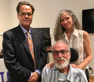 Cintas board member Victor Deupi with Visual arts awardee Juan Martinez and Pat Weissen at the Lowe Museum Cintas awards presentation