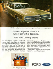 1969 Ford Country Squire Station Wagon (coconv) Tags: car cars vintage auto automobile vehicles vehicle autos photo photos photograph photographs automobiles antique picture pictures image images collectible old collectors classic ads ad advertisement postcard post card postcards advertising cards magazine flyer prestige brochure dealer 1969 ford country squire station wagon longroof