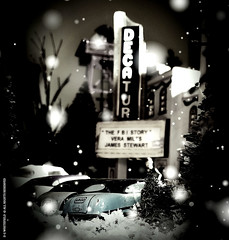 THE DECATUR THEATRE (-WHITEFIELD-) Tags: xmas snow 1950s decatur ga artdeco theatre underthetree christmas layout christmastrainlayout oscale goingtotheshow christmasvillage