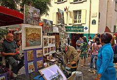 Lo que queda de la bohemia en Montmartre, París (Miguelanxo57) Tags: gente pintura pintor cuadros bohemia placedutertre montmartre parís francia