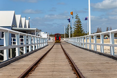 Iconic Jetty (Jared Beaney) Tags: canon6d canon australia travel photography photographer westernaustralia southwest busselton jetty ocean leadinglines tracks tram
