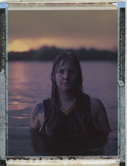 Cora in the creek (Dear Deer Fine Art) Tags: fuji film expired analog analogue 4x5 large format