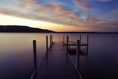 Into Twilight Water (matthewkaz) Tags: lake water limelake sunset sky clouds dock reflection reflections longexposure cedar maplecity michigan puremichigan summer 2018 ndfilter
