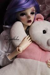 Murasaki (Puppet Tales Dolls) Tags: ooak ooakdoll doll repaint dollrepaint bjd balljointeddoll custom customization bjdcustom dollzone dollchateau star tarot bjdmod art draw facep makeup
