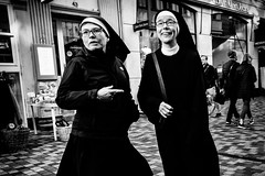 Nuns on the run.... (Sean Bodin images) Tags: streetphotography streetlife seanbodin streetportrait copenhagen citylife candid city citypeople nørreport people photojournalism photography reportage voreskbh visitdenmark visitcopenhagen nons