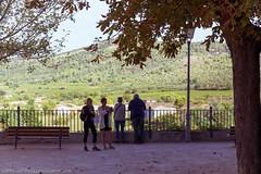 Vallon-Pont-d'Arc, Auvergne Rhone-Alps, France (doublejeopardy) Tags: view france people rhonealps pontdarc landscape vallon railings vallonpontdarc ardèche fr