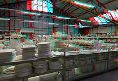 De Porceleyne Fles Factory Delft 3D (wim hoppenbrouwers) Tags: deporceleynefles factory delft 3d anaglyph stereo redcyan delfsblauw blueware pottery delftware