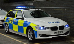 Durham Constabulary - NK62 DPU (Chris' 999 Pics) Tags: durham october 2016 constabulary bmw 330d 3 series diesel rpu roads policing unit traffic car pursuit vehicle anpr automatic number plate recognition 999 112 emergency police nk62dpu