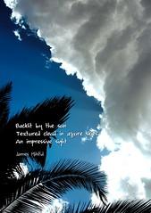265/365 - Daily Haiku: Cloud (James Milstid) Tags: dailyhaiku haikuaday haiga haiku poetry jemhaiku cloud cloudporn azure