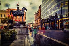 Queen Street (ianmiddleton1) Tags: glasgow rain autumn fall autumnal people blur movement