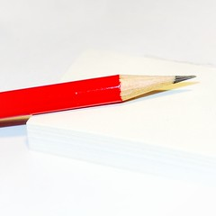 Paper & Pencil (andtor) Tags: hmm macromondays rx100 paper pencil papier bleistift perfectmatch red white rot weiss macro minimalism