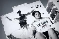 respect (bostankorkulugu) Tags: dervish whirlingdervish sufi muslim islam mural poster graffiti cyprus nicosia arasta wall art disabled civilwar bulletholes