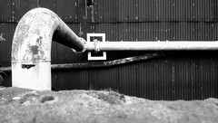 Abstract 1 (sheffchris) Tags: pipe abstract factory steel tube industry corigated bw sheffield south yorkshire
