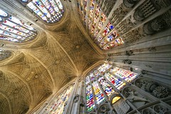Kings College Corner (Heaven`s Gate (John)) Tags: kings college cambridge stained glass stainedglass architecture art interior vaulting stone johndalkin heavensgatejohn england 10faves 25faves christmas choir