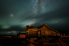 Stormy Night at the Lottie Johl House (Jeff Sullivan (www.JeffSullivanPhotography.com)) Tags: state historic park night photography workshop bodiestatehistoricpark abandoned american wild west mining ghost town monocounty bridgeport california usa landscape nature canon eos 5d mark iv photo copyright 2018 jeffsullivan october allrightsreserved bodie lottie johl house storm clouds