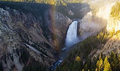 Yellowstone Rainbow (My Americana) Tags: yellowstonenationalpark yellowstone falls grandcanyonoftheyellowstone grandcanyon rainbow scenic landscape nationalpark np waterfall cayon