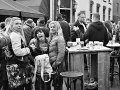 Beer Party (d_t_vos) Tags: party event beer people drinking cups glasses women tongue tongueout stickingout stickout eyecontact watchingme street streetphotography streetportrait candid table beertable terrace outside outdoor cafe festival leeuwarden gouverneursplein eewal kleinehoogstraat culturelehoofdstad lf2018 koningsdag spring dewalrus detoeter dickvos dtvos kingsday