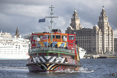 Dazzling moves (alundisleyimages@gmail.com) Tags: ferry razzledazzleboat colourful sirpeterblake river mersey liverpool maritime shipping passengership cruiseship oceandream cruiseliverpool port harbour royalliverbuilding liverpoolwaterfront weather captain workingboats passengers tourism merseyside uk merseyferries