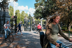 Biking in Vondelpark (thedailyjaw) Tags: amsterdam netherlands flowers tulips roses greencity green park canals x100f x100series xseries