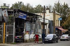 Chapman Road, Hackney Wick (London Less Travelled) Tags: uk unitedkingdom britain london city urban street suburb suburban suburbia eastlondon hackney hackneywick garage industrial cafe