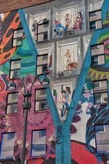 New York X (ValterB) Tags: 2018 nyc nikond90 usa valterb roadtrip facadelines facade building architecture abstract art arteurbana artwork aerosolart artist window wall wallart woman w street