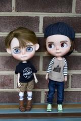 Cameron and Wesley (Chassy Cat) Tags: chassycat custom customized blythe doll boy pureneemo boybody s honeybunny nickylad scalp eyechips