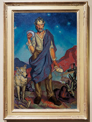 El Pastor (The Sheepherder) (William Penhallow Henderson, 1921) (Whidbey LVR) Tags: lyle rains lylerains olympus em5ii new mexico newmexico albuquerque museum art painting