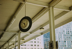 10 26 (jayplorin) Tags: clock windows san jose california canon ae1 film buildings city urban kodak gold 200 35mm