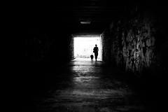 There's a light at the end of the tunnel (Black&Light Streetphotographie) Tags: monochrome mono menschen menschenbilder people personen portrait peoples portraits urban tiefenschärfe wow dof depthoffield fullframe face gesicht nahaufnahme city closeup sony streetshooting schwarzweis streetportrait street sonya7ii vollformat blackandwhite bw blackwhite bokeh bokehlicious