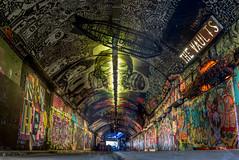 Graffiti tunnel (EricMakPhotography) Tags: graffiti tunnel london waterloo artists