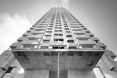 New Orleans in Rotterdam (frank_w_aus_l) Tags: rotterdam monochrome neworleans skyscraper city bw blackandwhite nikon df longexposure architecture sky depth netherlands netb zuidholland niederlande nl