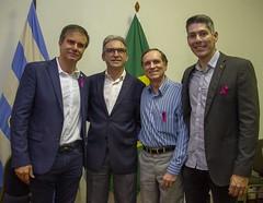 Schiavo Álvares (ACRN), Marcelo Queiroz (Fecomércio RN), Afrânio Miranda (FCDL) e Augusto Vaz (CDL)