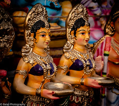 colours of India - Navaratri Festival - (Balaji Photography - 5 .5 Million+ views -) Tags: dolls women pavai pavaivilakku lanp colours art kolu navaratri dassara festival india psm photo walk canon canon70d tamaron wideangle street mylapore