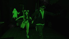 RUNNNN! - Love Sick Series Part 5 (Serena Reins) Tags: confession photography secondlife original pose poses couples korean drama inspired run running minimal backkdrop maitreya lara bellezza jake reign mouse besom hair ghost green night vision haunted house catwa uma daniel