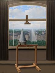 """Where Euclid Walked"", Rene Magritte (1955) (Joey Hinton) Tags: sanfrancisco california unitedstates rene magritte exhibit museum modern art google pixel2 andriod smartphone cellphone cameraphone phone"