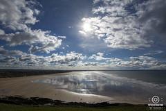 saunton sands north devon uk yesterday (kapper22) Tags: reflection beach clouds north devon saunton water sea sand outdoor dunes grass wet people surfers sun blue yellow green